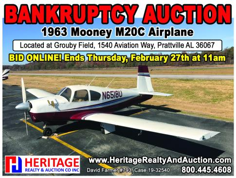 1963 Mooney M20C for Auction in Prattville, Alabama, United States (1A9)
